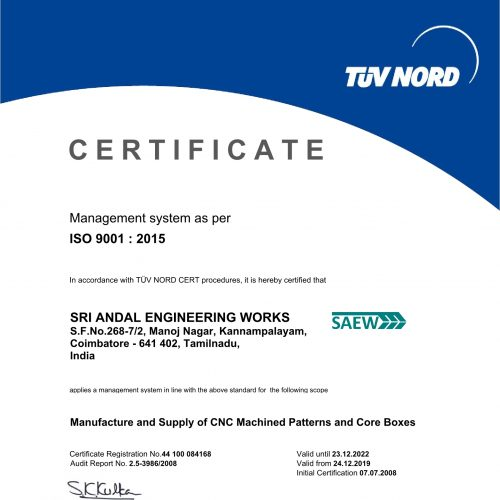Certification ISO 9001-2015 R01